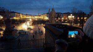 Piazza Vittorio de nuit Turin