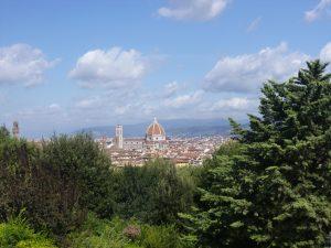 Ville de Florence vue depuis les hauteurs