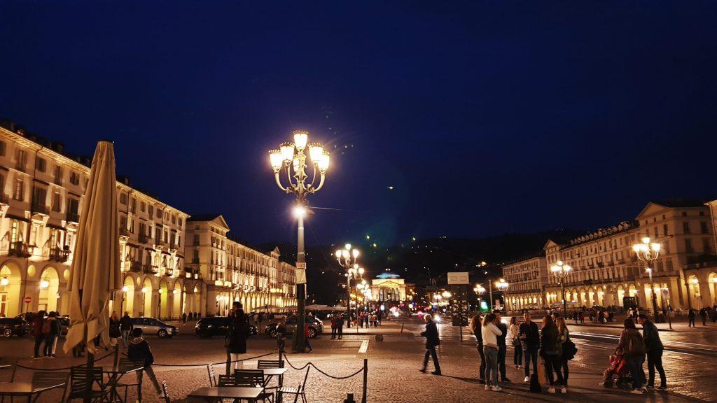 Piazza Vittorio Veneto nuit Turin