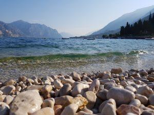 Plage lac de garde en italie