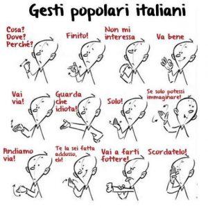 les gestes des italiens