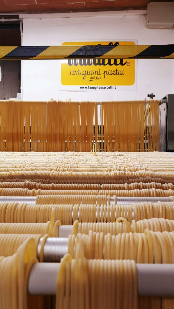 Visite fabrique de pates Martelli en toscane