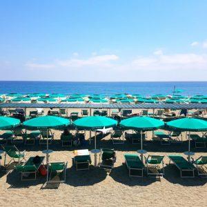 plage privée finale ligure en italie