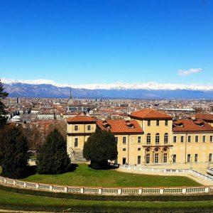 vue depuis la villa della regina a turin