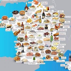 carte des plats typiques en France vs Italie