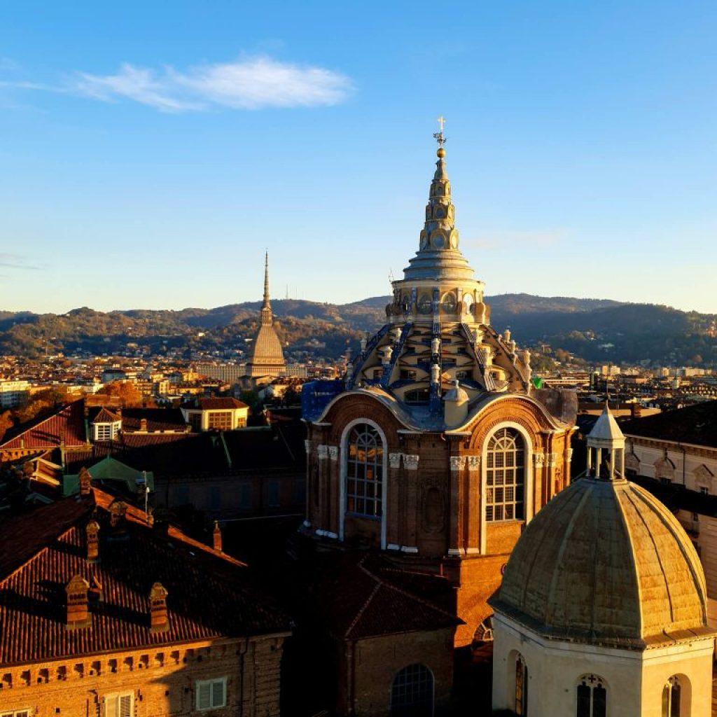 vue sur Turin dans le Piémont