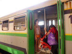 Sul treno al caldo