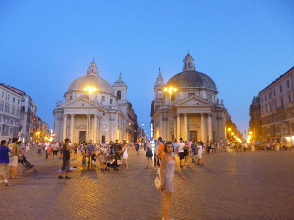 Le crépuscule à Rome