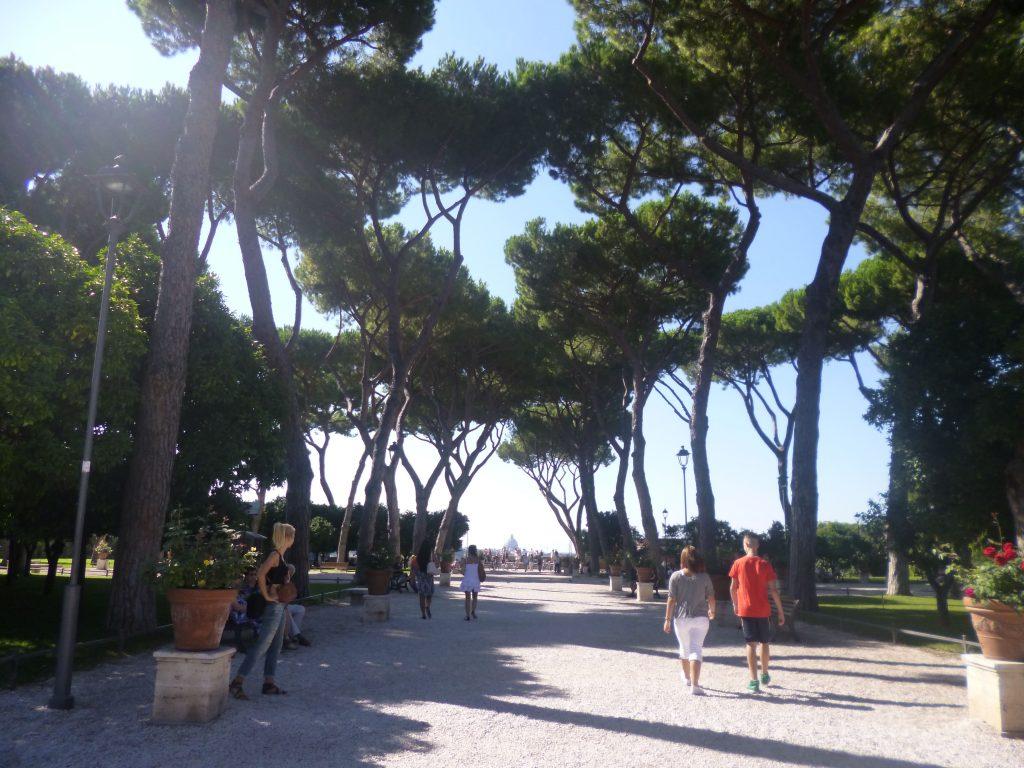 Pausa pranzo all'ombra Roma