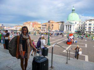 séjour à Venise sortie de la gare