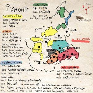 mappa dei vini piemontesi doc e docg