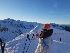skier aux alentours de turin