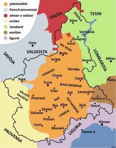 region piemont et dialecte