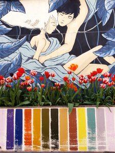 Street Art fleuri Turin