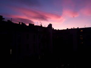 coucher de soleil rose turin