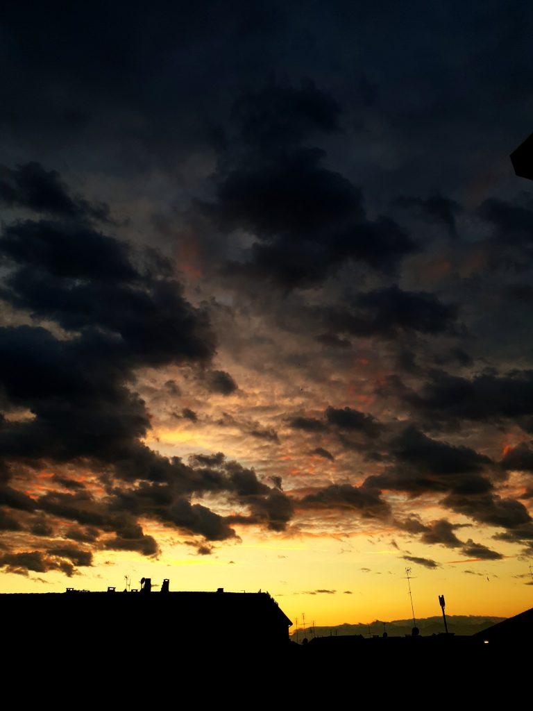 coucher de soleil centre turin