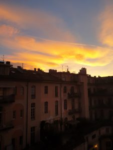 coucher de soleil a turin