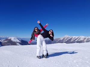 Moments ski dans le Piémont