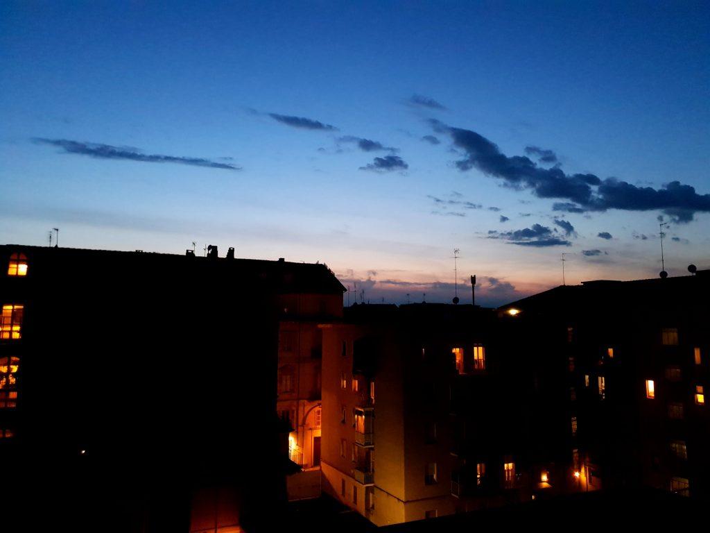 coucher de soleil centre ville turin