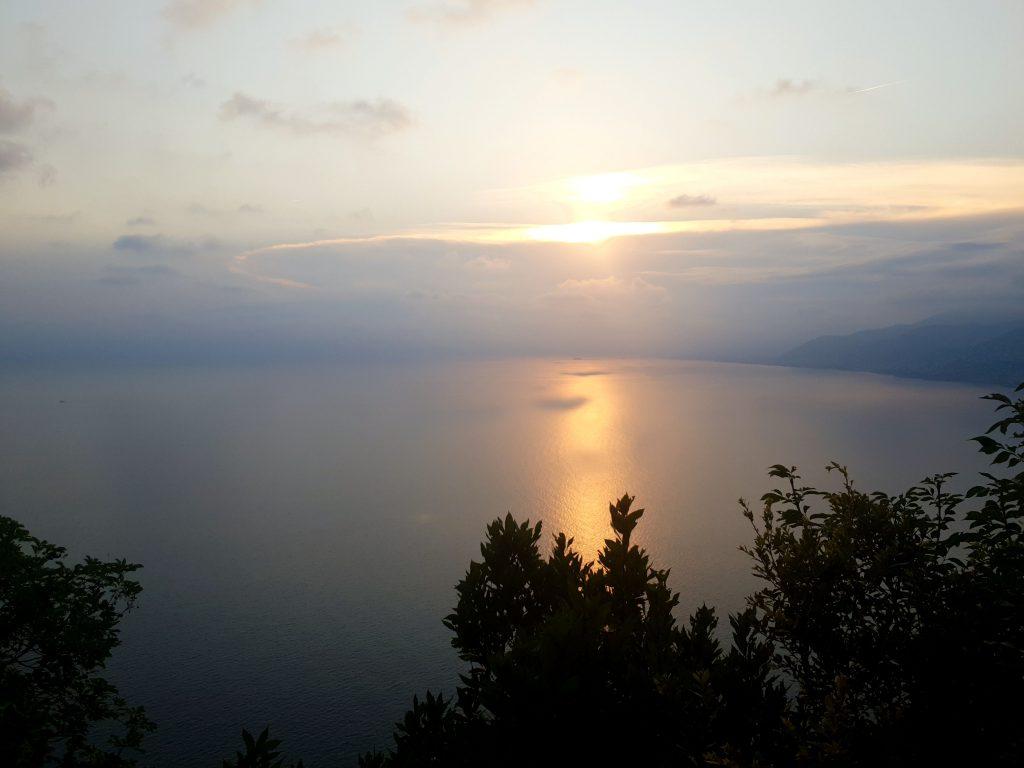 coucher de soleil camogli ligurie