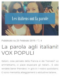 la parola agli italiani